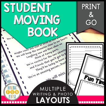 Student Moving...We Will Miss You book