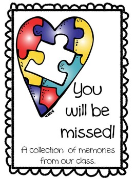 We Will Miss You Booklet: Class gift for teachers who are leaving