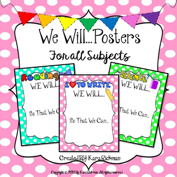 We Will...Posters for All Subjects