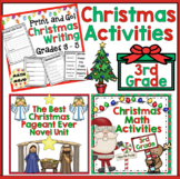 3rd Grade Christmas - 3rd Grade Math and ELA Christmas Activities Bundle