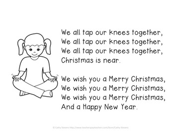 We Wish You A Merry Christmas - Activity Song for Young Children - - Freebie!