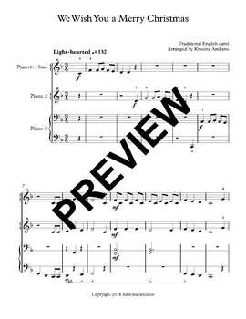 We Wish You A Merry Christmas Piano.We Wish You A Merry Christmas Piano Trio 1 Piano 6 Hands