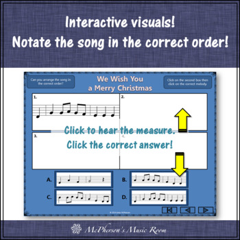 We Wish You a Merry Christmas - Recorder PowerPoint Visuals (Notes DEF#GABCD)