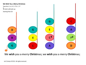 We Wish You A Merry Christmas For Bells And Or Boomw Ers Recorder Uke