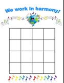 We Work in Harmony - Behavioral Sticker Chart