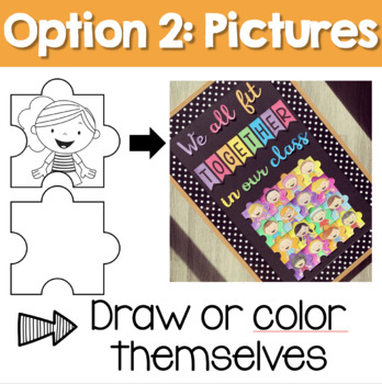 Back to School Bulletin Board - We all fit together jigsaw puzzle