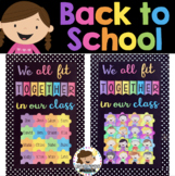 Back to School Bulletin Board We All Fit Together Jigsaw Puzzle