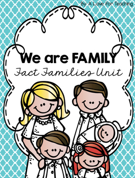 We are Family: Fact Families Unit {Task Cards Digital}