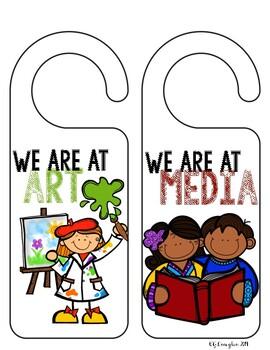 We are Here! Door Hangers for the Classroom