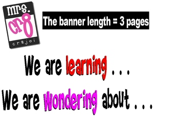 We are Learning and Wondering Banner