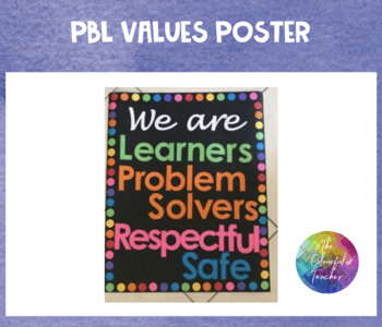 We are PBL Value Poster