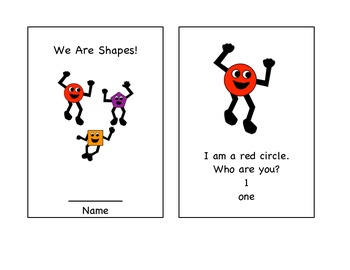 We are Shapes! ~ Small Geometry book in English and Spanish