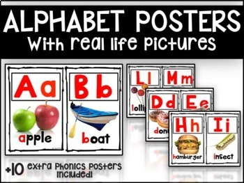 Alphabet Poster with Real Life Pictures
