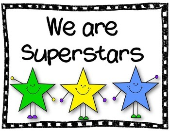 We are Superstars Behavior Management Chart