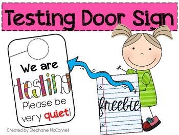 We are Testing Door Sign