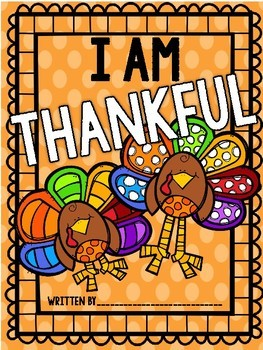 We are Thankful- A Thanksgiving Classroom Book Template