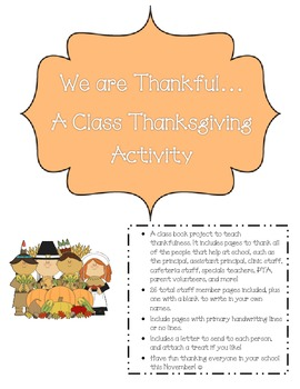 We are Thankful Class Project