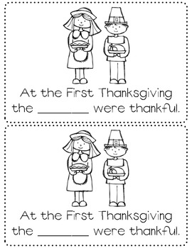 We are Thankful - Thanksgiving mini-unit
