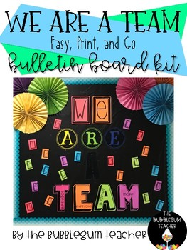 We are a Team Bulletin Board Kit