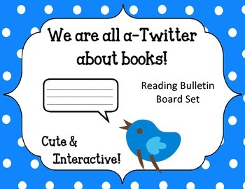 We are all a-Twitter about Books Bulletin Board Set. Reading. Spring. Birds.