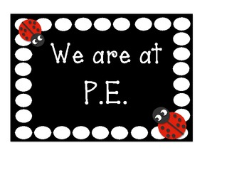 We are at .... Location signs polka dot and ladybug themed