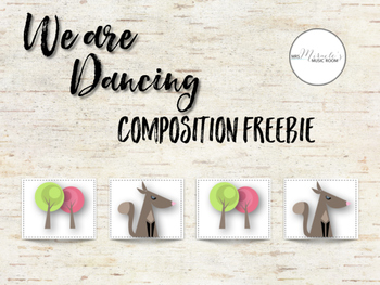 We are dancing composition freebie