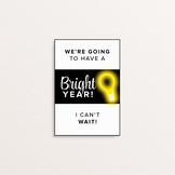 We are going to have a bright year - A6 Handout