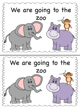 We are going to the zoo emergent reader