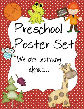 We  are learning about... Preschool Posters