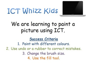We are learning to paint a picture using ICT Where The Wild Things Are
