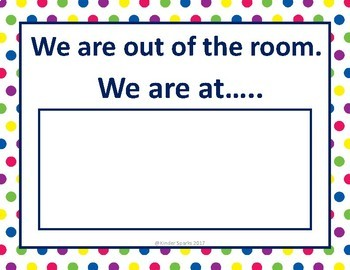 We are out of the room sign -Includes 12 different locations!
