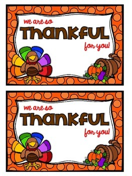 """""""We are so thankful for you!"""" - Spreading Schoolwide Thankfulness"""