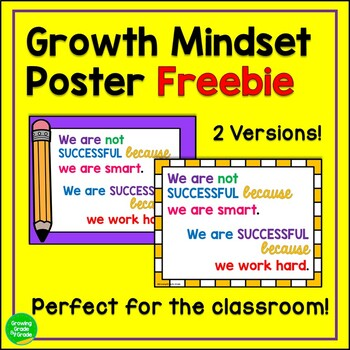 Inspirational Encouraging Poster Freebie: We are successful when we work hard