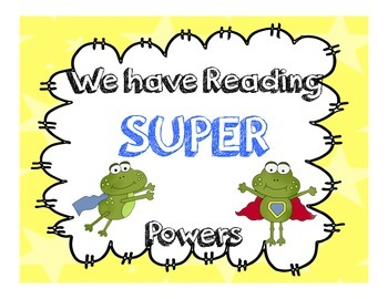 We are super Readers- superhero themed reading prompts primary