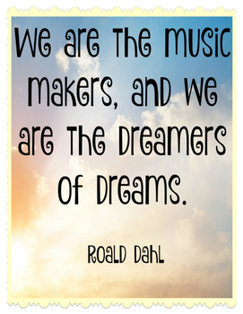 We are the Music Makers (Poster)