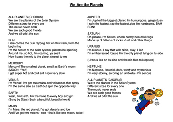 We are the Planets Lyrics