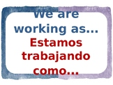 We are working as_Estamos trabajando como