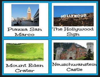 STEM building task cards - National Monuments and Parks