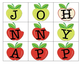 We can make words...Johnny Appleseed