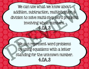 We can statements-- 4th grade Math common core standards B
