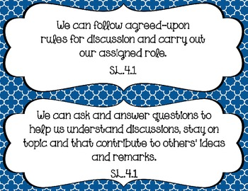 We can statements-- 4th grade Speaking/Listening Common Core standards