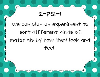 We can statements for NGSS 2nd Grade