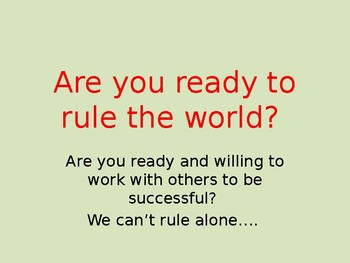 We cannot rule alone, how to work effective in groups