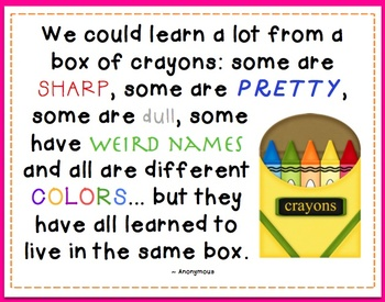 We could learn a lot.... crayons