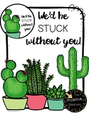 Teacher Appreciation Gift Tags - We'd Be Stuck Without You - Editable Text!
