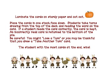 We give thanks for VCe and SHORT VOWELS! game