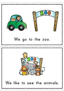 We go to the Zoo Easy Reader  Guided Reading Kit