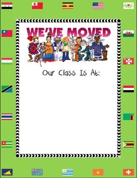 """We have Moved"" Classroom Location Sign"