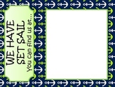 We have set Sail...where we are sign Nautical theme lime and navy