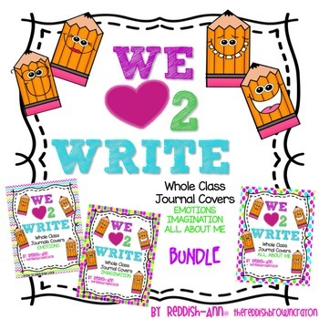 We {heart} 2 Write - Journal Covers/Prompts - BUNDLE